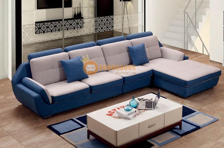 Bộ ghế sofa phòng khách màu xanh