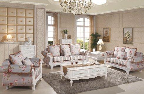 Ghế Sofa phòng khách tân cổ điển sắc hoa sang trọng