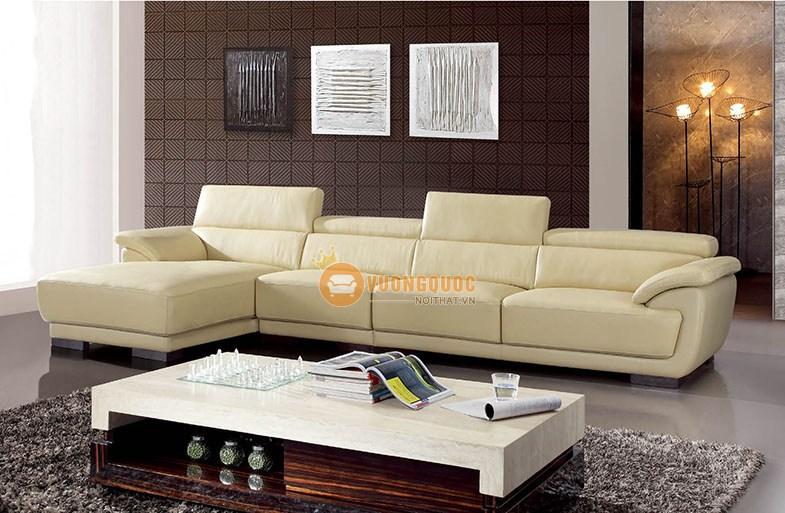 Sofa phòng khách trắng tinh khôi hiện đại trang nhã