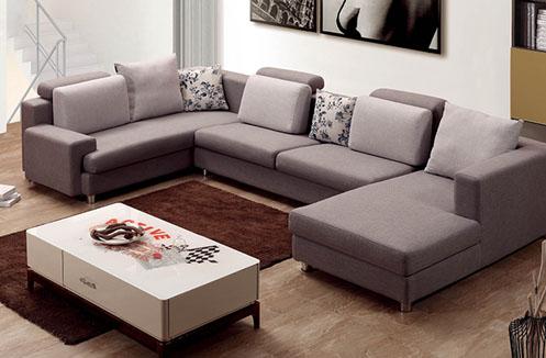 Bộ ghế sofa phòng khách hiện đại màu xám giá hạt dẻ