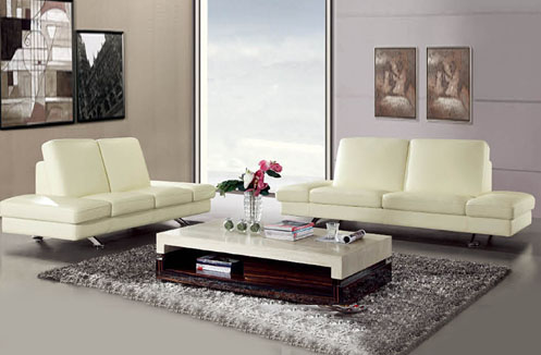 Bộ ghế sofa phòng khách hiện đại trắng tinh khôi