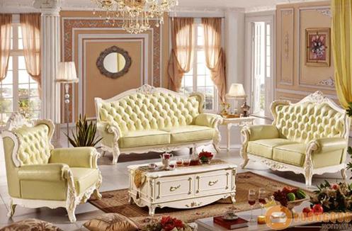 Bộ sofa da bò thiết kế Pháp tinh tế