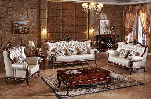 Bộ sofa gỗ sồi OAK phong cách Hoàng Gia
