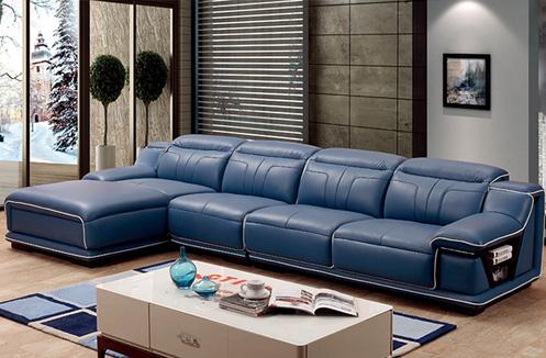 Bộ sofa màu xanh nhập khẩu sang trọng