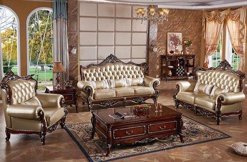 Bộ sofa phong cách Châu Âu làm từ gỗ sồi cao cấp