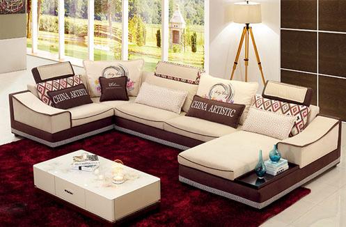 Bộ sofa phòng khách chữ U giá rẻ
