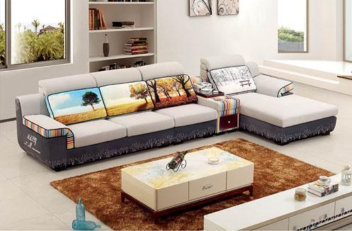 Bộ sofa phòng khách họa tiết độc đáo