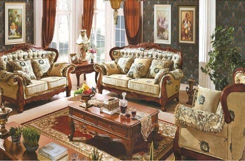Bộ sofa phòng khách Hoàng Gia gỗ sồi ấm cúng