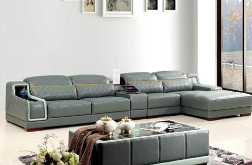 Bộ sofa phòng khách màu xám sang trọng quý phái