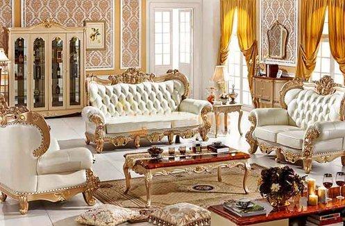 Bộ sofa phòng khách tân cổ điển phong cách Hoàng Gia