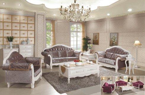 Sofa phòng khách gỗ tự nhiên mang phong cách tân cổ điển