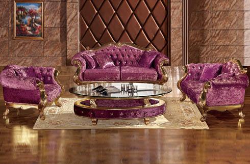 Bộ sofa tân cổ điển tím sang trọng thời thượng