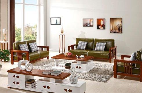 Sofa màu rêu hiện đại