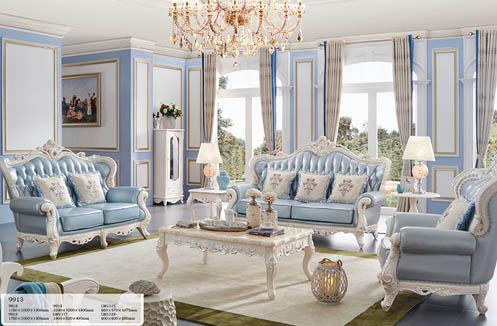 Sofa phòng khách cao cấp sắc xanh trang nhã