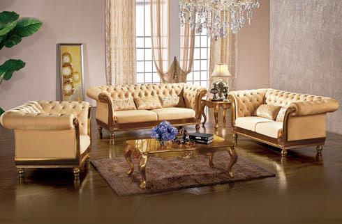 Sofa phòng khách gỗ sồi màu da trang nhã