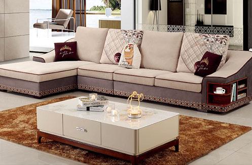 Ghế sofa phòng khách hiện đại màu kem