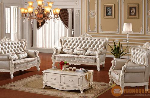 Bộ sofa cổ điển thiết kế phong cách pháp quyến rũ