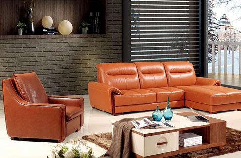 Bộ ghế sofa phòng khách màu da quý phái