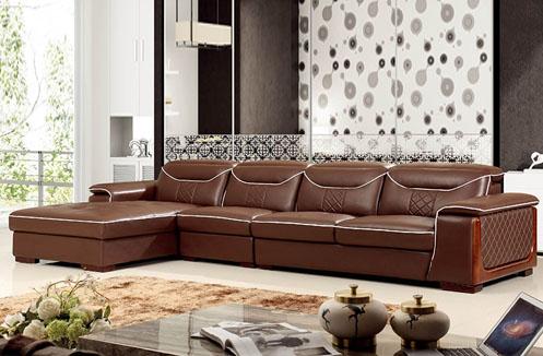 Bộ sofa phòng khách cao cấp nâu trầm tinh tế