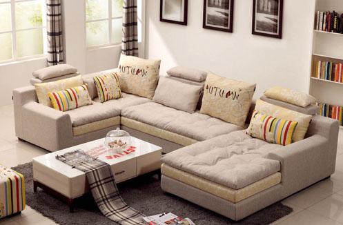 Ghế sofa nhập khẩu hiện đại hình chữ U