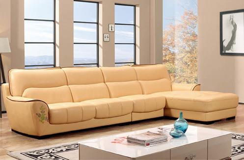 Bộ sofa phòng khách màu da sang chảnh
