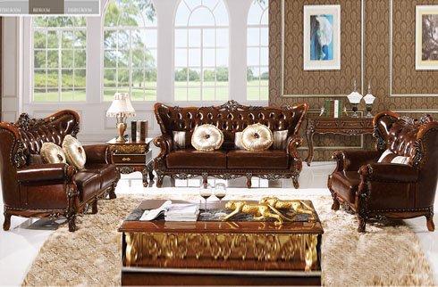 Sofa cổ điển tone nâu sang trọng