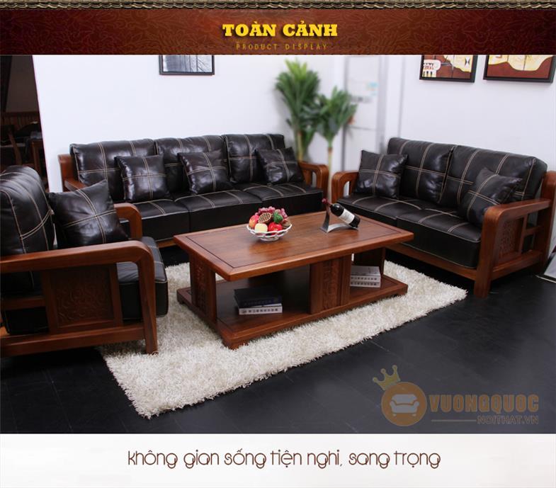 Sofa da bò kiểu dáng hiện đại