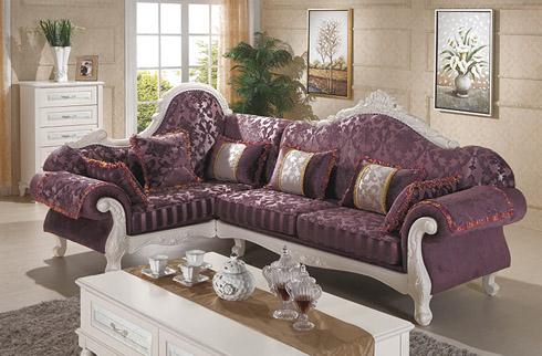 Bộ sofa phòng khách sắc tím kiểu dáng cao cấp