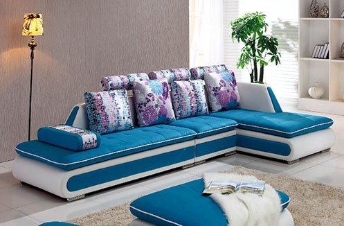 Sofa da sắc xanh hiện đại trẻ trung
