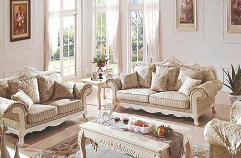 Sofa tân cổ điển tone trắng thanh lịch